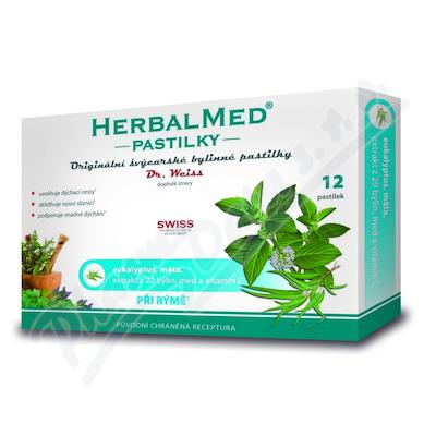 HerbalMed past. Dr.Weiss Eukalipt+mięta+wit.C 12