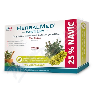 HerbalMed past. Dr.Weiss Isl.liš+tym+miód+witC 24+6