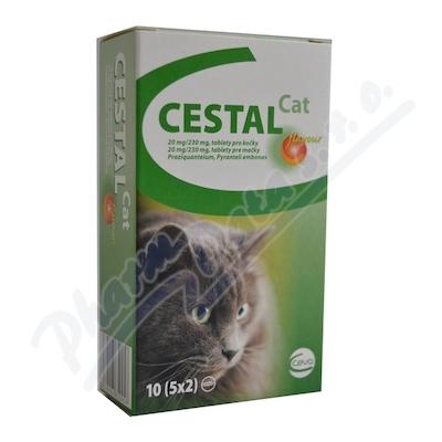 CESTAL CAT flavour 20mg/230mg tablety pro kočky 10
