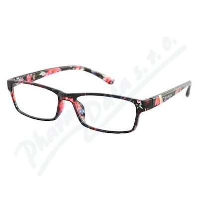 Brýle čtecí +1.00 černo-květinové