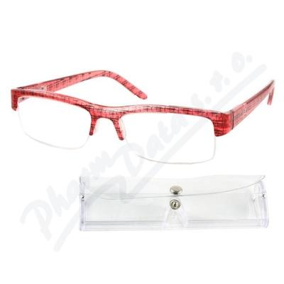 Brýle čtecí +1.00 červeno-černé s pouzdrem