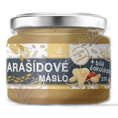 Allnature Masło arachidowe z białą czekoladą 220 g