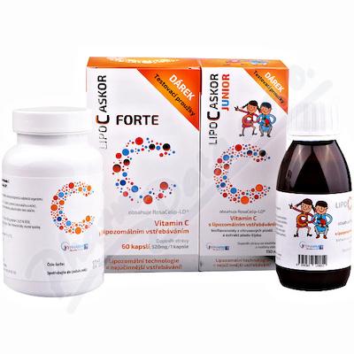 LIPO C ASKOR Junior liposomalna Wit.C 110ml +FORTE cps.60