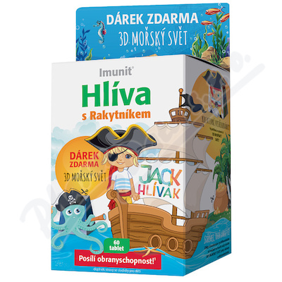 Boczniak JACK HLÍVÁK dla dzieci tbl.60+3D świat morza