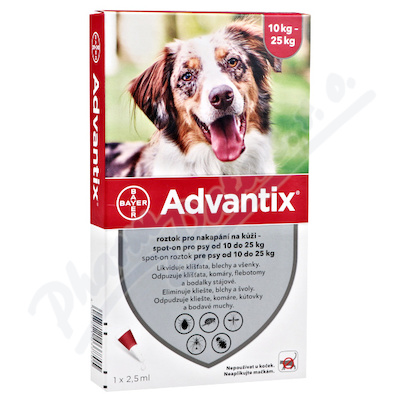 Advantix pro psy 10-25kg spot-on a.u.v.4x2.5ml