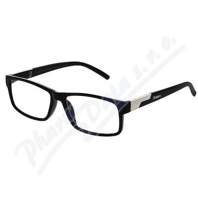 Brýle čtecí +1.00 černé s kovovým doplňkem FLEX