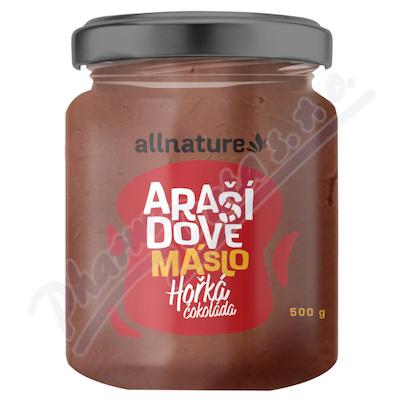 Allnature Arašídové máslo s hořkou čokoládou 500g