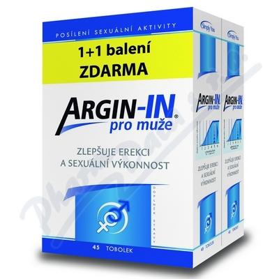 Argin-IN dla mężczyzn erekcja tob.45 + Argin-IN tob.45 gratis