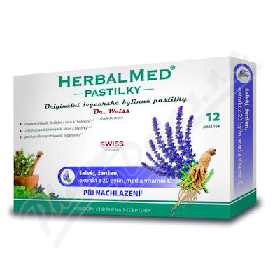 HerbalMed pastylki Dr.Weiss Szałwia+żeń-szeń wit.C 12