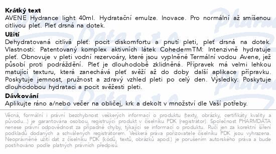 AVENE Hydrance Hydratační emulze 40ml